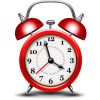 Red Alarm Clock Icon image #8161