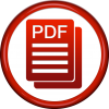 Red Circle With Pdf Icon Png image #2074
