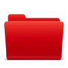 Red, Folder, Directory Icon image #12384