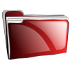 Red Folder Full Icon image #24494
