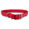 Red Leather Dog Collar Belt Images image #48107