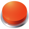 Red Stop Button Icon image #21053