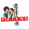 High Resolution Refer A Friend  Clipart image #18117