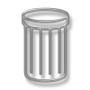 Remove, Rubbish Basket, Trash Can, Trashcan Icon image #28679