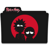Rick And Morty Black Folder Icon image #43807