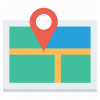 Road Map Direction Icon image #13971
