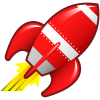 High Resolution Rocket Ship  Clipart image #30447
