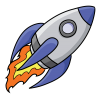 Rocket Ship Clipart thumbnail 30448