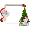Santa, Snowman, Gifts, Tree In Christmas Frame Borders image #47111