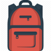 School Bag Drawing Vector image #23328