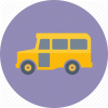 Icon Symbol School Bus image #23313