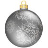 Silver Christmas Ball  Transparent Images image #35216
