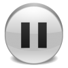 Silver Pause Icon image #29598