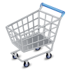 Silver Shopping Cart Icon image #29082