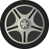 Simple Car Wheel Tire Rims Side View By Qubodup   Just A Wheel Side image #464