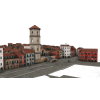 Small Town Buildings 3d image #3518