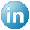 Social Linkedin Button Blue Icon | Social Bookmark Iconset | Yootheme image #2028