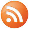 Social Rss Button Orange Icon image #11298