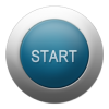 Start Button Silver Blue  Icon image #44885
