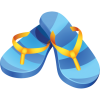 Summer Travel Flip Flops Icon image #4971