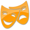 Theater Yellow Icon image #8125