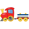 High Resolution Toy Train  Clipart image #31593