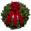 Transparent Christmas Wreath With Red Bow  Picture image #39760