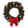 Transparent Christmas Wreath With Red Bow  Picture image #39761