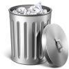 Transparent Trash Can image #28676