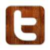 Twitter Wood Symbol Icon image #41349