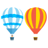 Two Air Balloon  Clipart image #46778