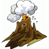 Volcano  Clipart image #33653