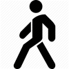 Transparent Walking Icon image #7384