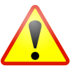 Warning Icon Red Border image #2752