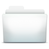 White Folder Directory Icon image #12381