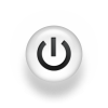 White Power Button Icon image #8346