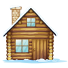 Winter House  Clipart thumbnail 31440