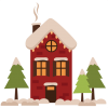 Winter House  Clipart thumbnail 31441