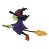 Witch On Broom Halloween  Image image #48945