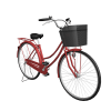 Women Red Bicycle Transparent Cut Out image #45194