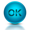 Word Ok Icon Blue image #3094