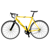 Yellow, Bike, Bicycle Clipart image #45183