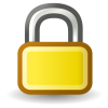 Yellow Lock Icon image #29046