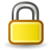 Yellow Lock Icon image #5001
