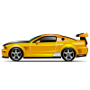 Yellow Muscle Car Icon image #4264