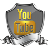 Youtube Shield Badge Social Icon image #12525
