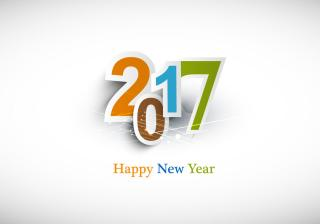 2017 Happy New Year Background Template PNG images
