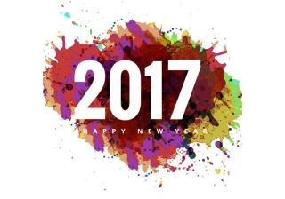 2017 Happy New Year Colorful Card PNG images