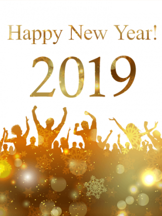 Glowing, Peoples Celebrate 2019 Happy New Year Photo PNG images