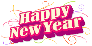 Happy New Year Pink Design PNG images